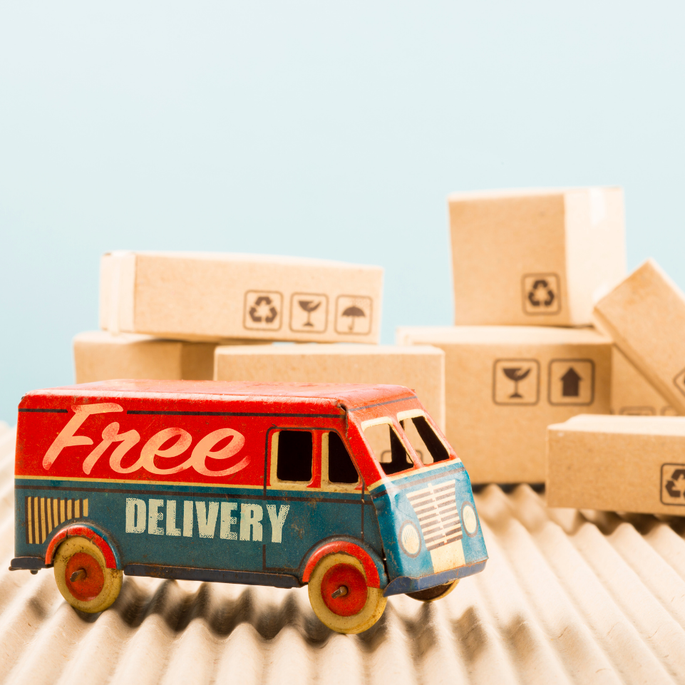 3. Free delivery to your door